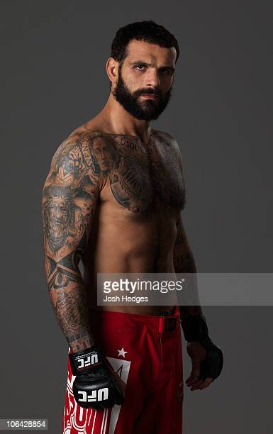 Middleweight fighter Alessio Sakara of Italy poses for a portrait on August 6 2009 in Philadelphia Pennsylvania