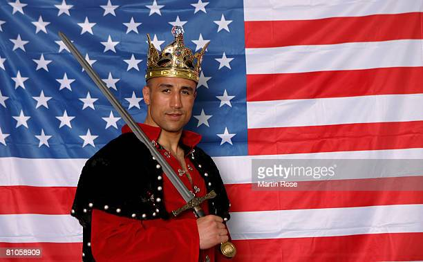 EXCLUSIVE Middleweight fighter Arthur Abraham poses during a photocall at the Sauerland Box Gym on May 8 2008 in Berlin Germany