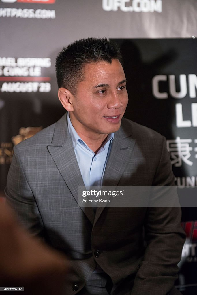 UFC middleweight fighter Cung Le at the Macao UFC Fight Night Press Conference at the Four Season Hotel on August 20, 2014 in Hong Kong.