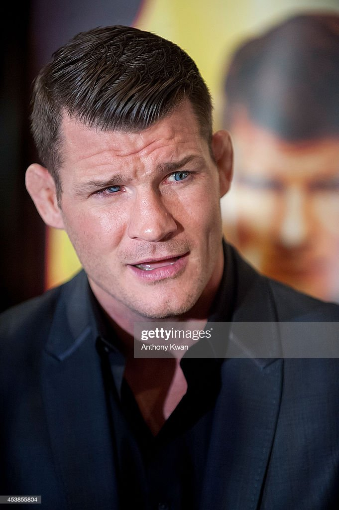 UFC middleweight fighter Michael Bisping at the Macao UFC Fight Night Press Conference at the Four Season Hotel on August 20, 2014 in Hong Kong.