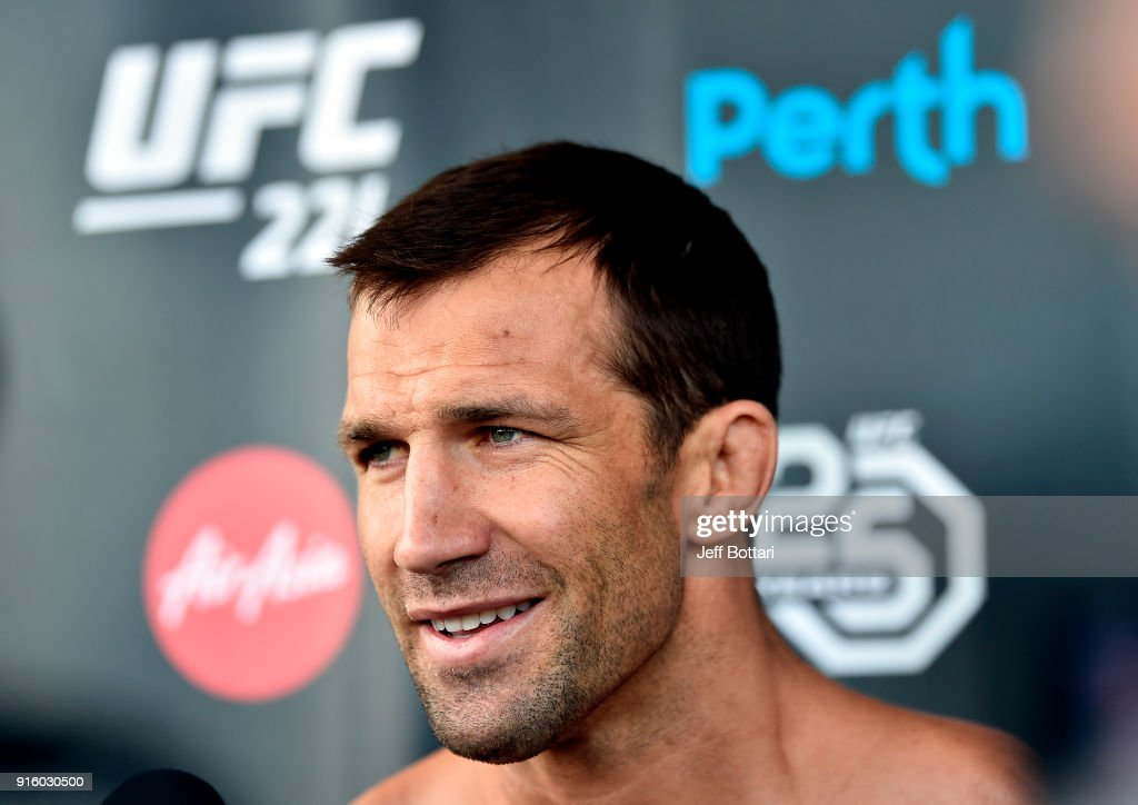 UFC middleweight Luke Rockhold holds an open workout for fans and media during the UFC 221 Open Workouts at Elizabeth Quay on February 9, 2018 in Perth, Australia.