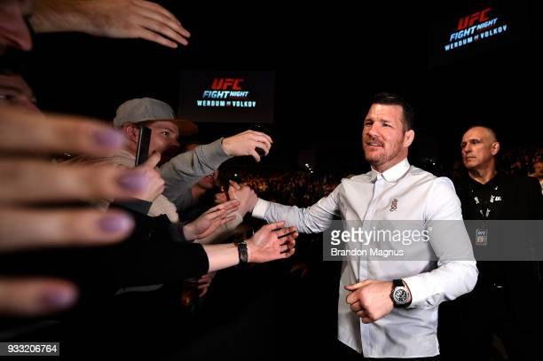 UFC middleweight Michael Bisping attends the UFC Fight Night event inside The O2 Arena on March 17 2018 in London England