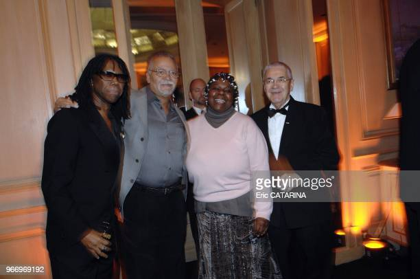 Midem 2007 - Man Of The Year Dinner - Claude Nobs Claude Nobs, Founder and Chief Executive Officer of Montreux Jazz Festival Nile Rodgers;John...