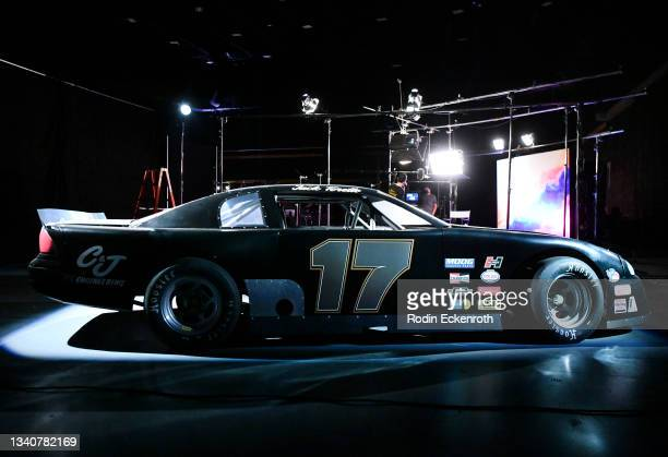 Mid-engine Dodge Charger on display at the F9 Fest event on the Universal Studios backlot celebrating F9: The Fast Saga on September 15, 2021 in...
