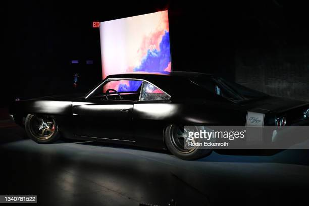 Mid-engine Hellcat-powered Dodge Charger on display at the F9 Fest event on the Universal Studios backlot celebrating F9: The Fast Saga on September...