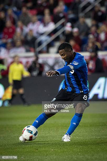 Midfielder and Captain Patrice Bernier of the Montreal Impact shows great form during the second leg of the 2016 MLS Eastern Region Conference...