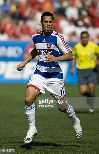 Midfielder Andre Rocha of FC Dallas follows the play during the match against Toronto FC on August 3 2008 at BMO Field in Toronto Ontario Canada FC...