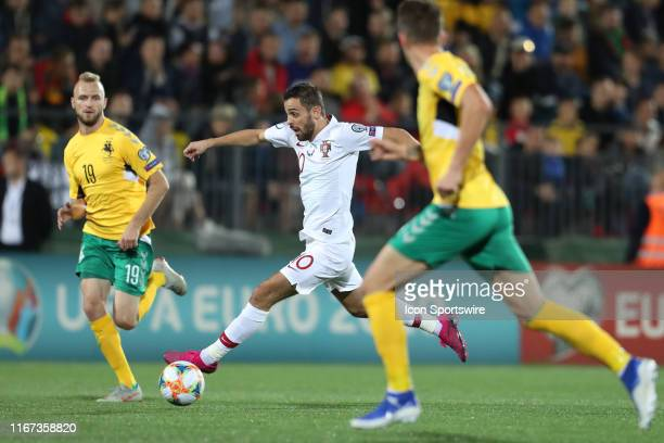Midfielder Bernardo Silva of Portugal National Team during UEFA EURO 2020 Qualifying match between Lithuania and Portugal on September 10 2019, at...