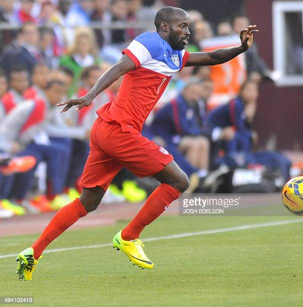 US midfielder DaMarus Beasley controls the ball during a World Cup preparation match against Azerbaijan at Candlestick Park in San Francisco on May...