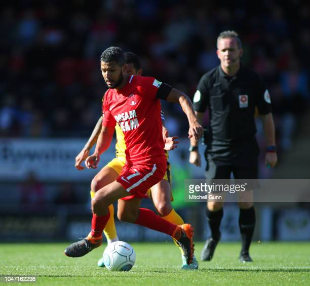 midfielder Jobi McAnuff of Leyton Orient during the National League match between Leyton Orient and Sutton United at The Breyer Group Stadium on...
