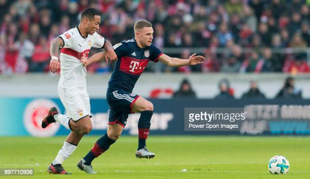 Midfielder Joshua Kimmich of FC Bayern Muenchen in action during the Bundesliga match between VfB Stuttgart and FC Bayern Muenchen at the...