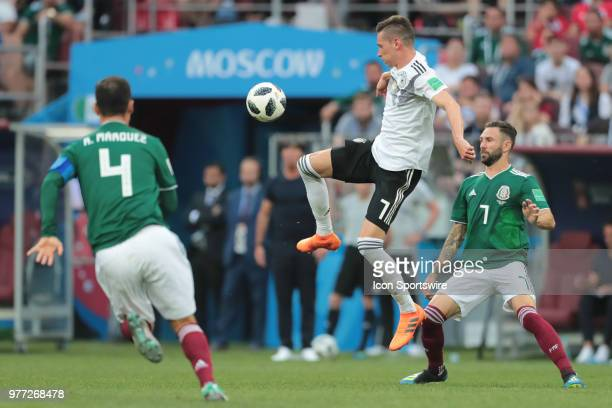 Midfielder Julian Draxler of Germany during a Group F 2018 FIFA World Cup soccer match between Germany and Mexico on June 16 at Kazan Arena in Kazan...