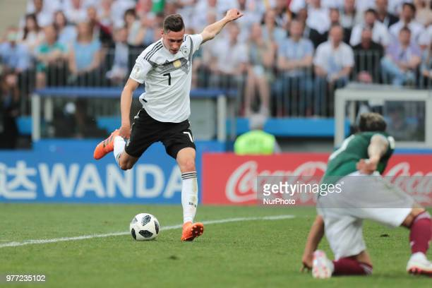 midfielder Julian Draxler of Germany National team during a Group F 2018 FIFA World Cup soccer match between Germany and Mexico on June 16 at the...