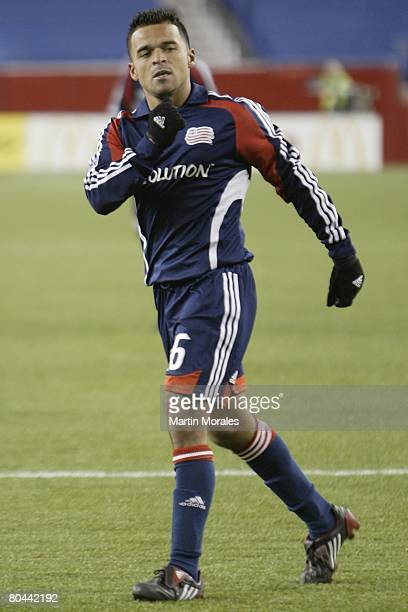 Midfielder Mauricio Castro of the New England Revolution thanks the fans for their support after the season opening game against the Houston Dynamo...