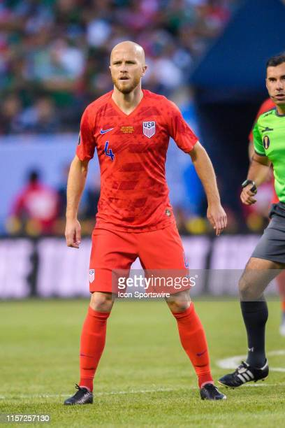 Midfielder Michael Bradley during the CONCACAF Gold Cup final match between the United States and Mexico on July 07 at Soldier Field in Chicago, IL.