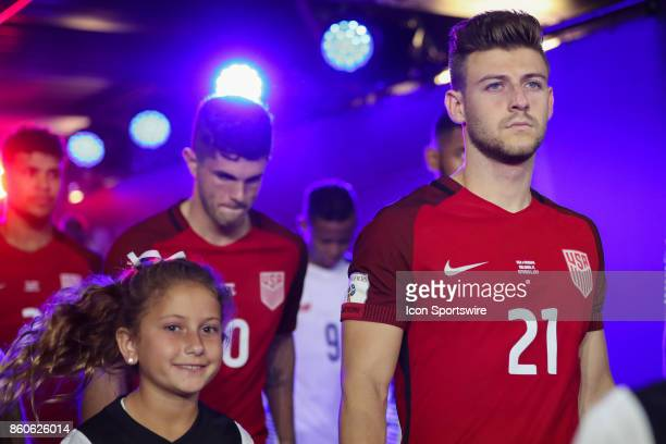 USA midfielder Paul Arriola walks from the player tunnel before the World Cup Qualifying soccer match between the US Mens National Team and Panama on...