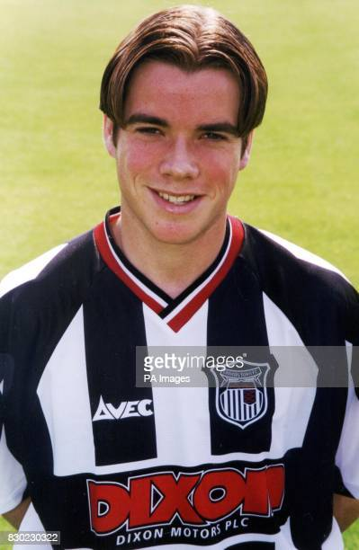 Midfielder Paul Goodhand who plays for First Division Grimsby Town FC at Blundell Park Stadium