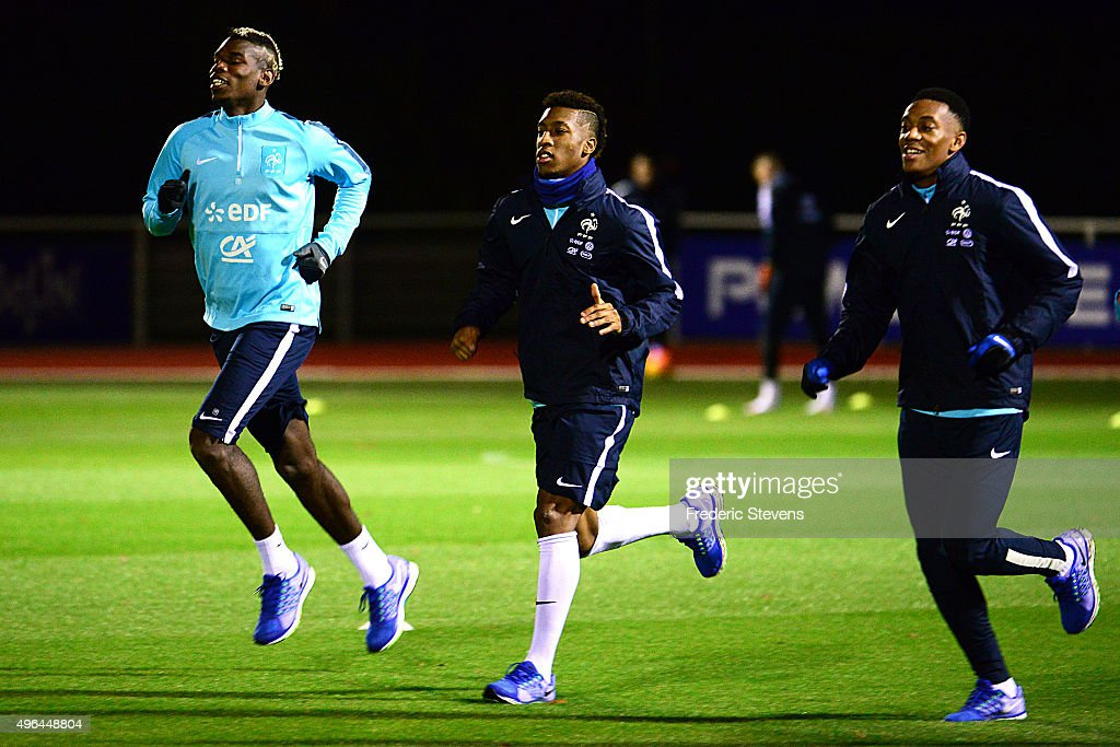 France Soccer Team Training Session At Clairefontaine : News Photo