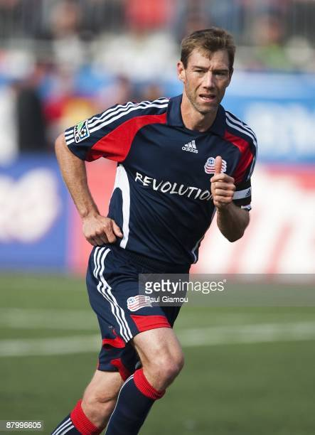Midfielder Steve Ralston of the New England Revolution follows the play during the match against the Toronto FC at BMO Field on May 23, 2009 in...