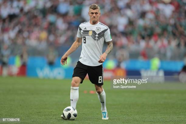 Midfielder Toni Kroos of Germany during a Group F 2018 FIFA World Cup soccer match between Germany and Mexico on June 16 at Kazan Arena in Kazan...
