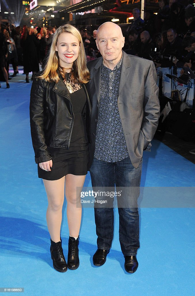 Midge Ure (R) and a guest attend the European premiere of 'Eddie The Eagle' at Odeon Leicester Square on March 17, 2016 in London, England.