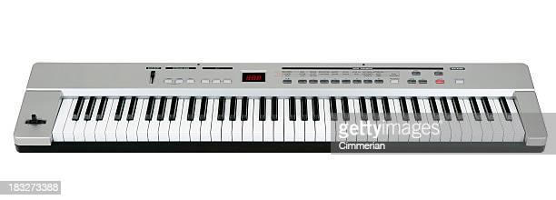 Midi clavier sur blanc