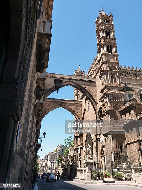 Midieval campanile, cathedral Palermo