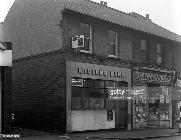 Midland Bank, Thurnscoe, South Yorkshire, 1969. Like many of the clearing Banks, the Midland was the result of a long line of mergers with smaller...