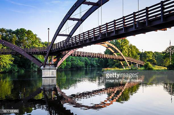 midland michigan bridge - midland michigan stock pictures, royalty-free photos & images