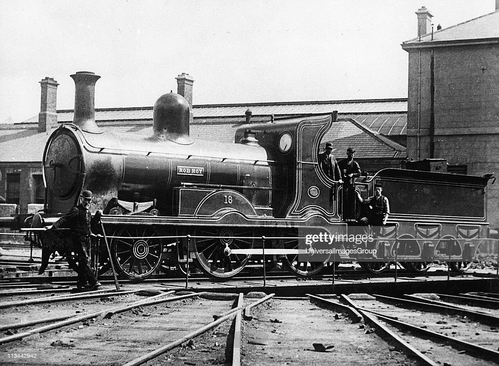 Midlands and Great Western Railway (Ireland) 2-4-0 locomotive 'Rob Roy' built by Neilson & Co. 1873. Photograph. ... : News Photo