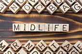 midlife wooden cubes with letters
