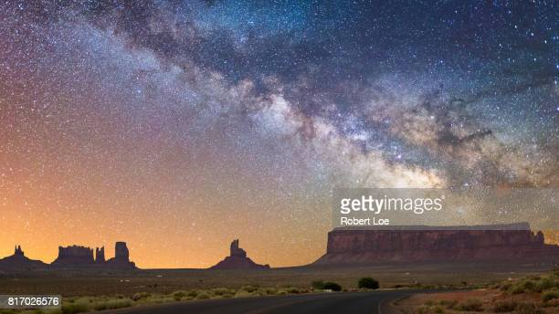 midnight journey - monument valley tribal park stock photos and pictures