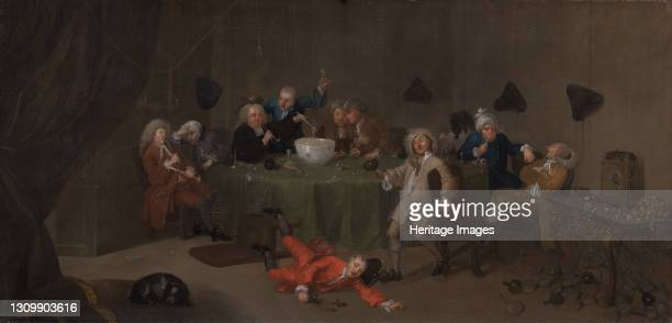 Midnight Modern Conversation, ca. 1732. After William Hogarth. Artist Unknown. .