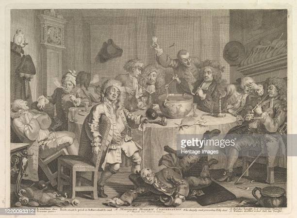 Midnight Modern Conversation, March, 1732. Artist William Hogarth.