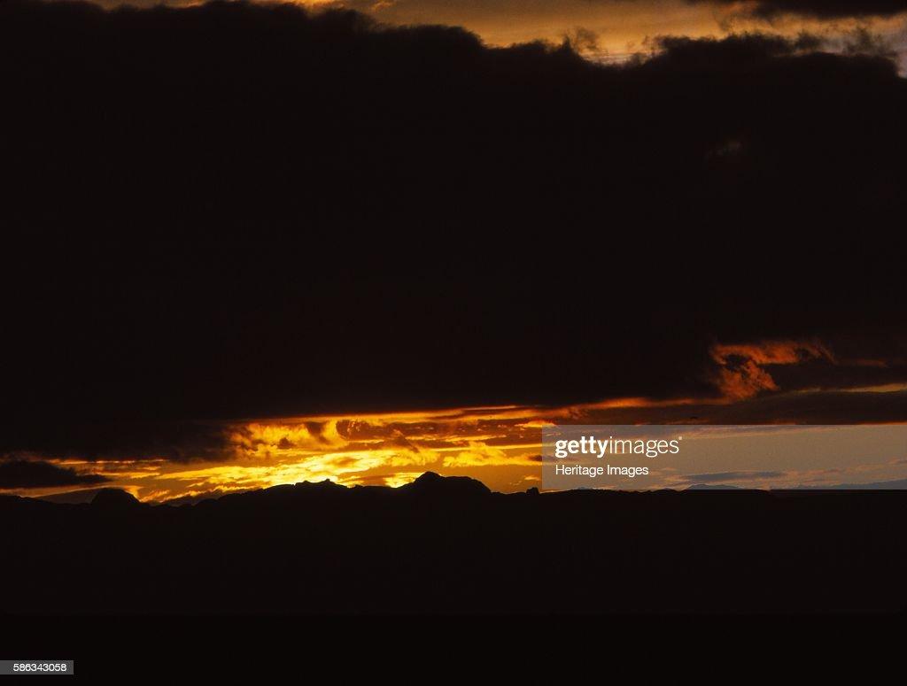 Midnight Sky At Herdubreidarlindir In Summer : News Photo
