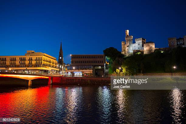 midnight sky in inverness, scotland - inverness stock photos and pictures