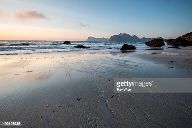 Midnight Sun from Myrland Beach