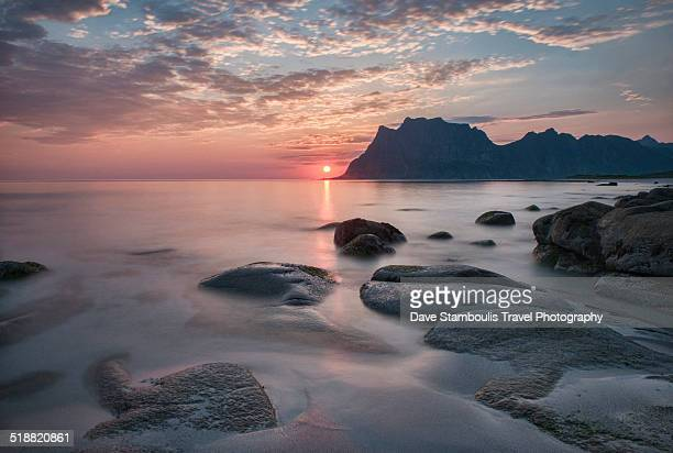 midnight sun, Lofoten Islands, Norway