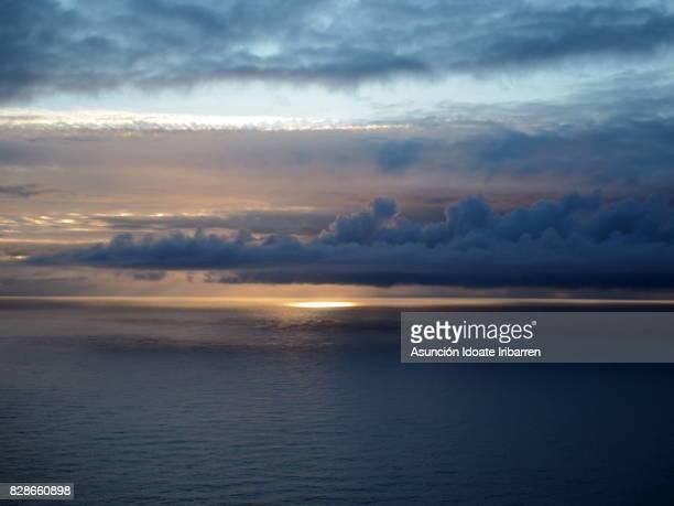 Midnight sun on the north cape