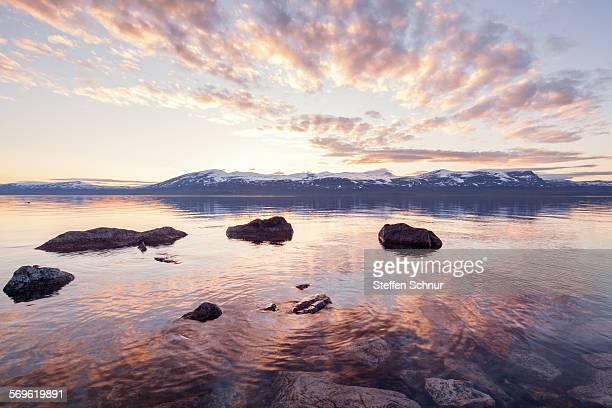 Midnight sun SwedenArctic Circle