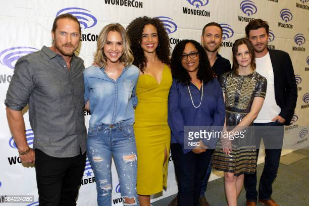 MIDNIGHT TEXAS Midnight Texas at WonderCon Anaheim 2017 Pictured Jason Lewis Arielle Kebbel Parisa FitzHenley Monica OwusuBreen Executive Producer...