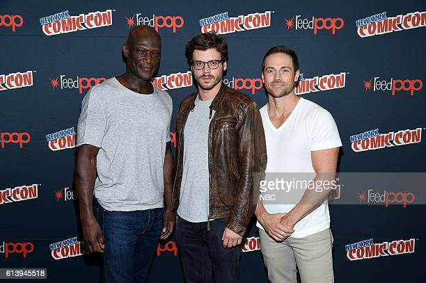 CON 2016 'Midnight Texas' Press Room Pictured Peter Mensah Francois Arnaud Dylan Bruce on Saturday October 8 2016 from the Javits Center in New York...