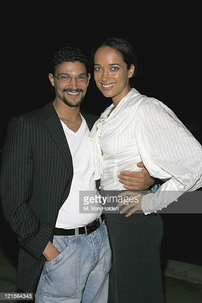Mido Hamada and Carmen Chapman during 14th Annual Hamptons International Film Festival Beach Front Party October 19 2006 at Judy Licht residence in...