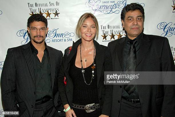 Mido Hamada Connie Nielsen and Said Amadis attend 14th Annual Hamptons International Film Festival Opening Night Party at Gurney's Inn on October 18...
