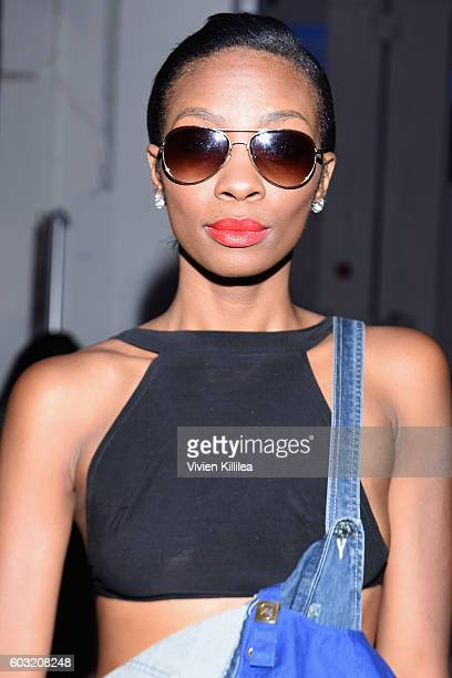 Midori Amae attends the Irina Vitjaz fashion show during New York Fashion Week The Shows September 2016 at The Gallery Skylight at Clarkson Sq on...