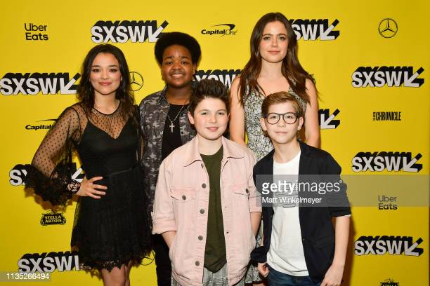 Midori Francis Keith L Williams Brady Noon Molly Gordon and Jacob Tremblay attend the Good Boys Premiere 2019 SXSW Conference and Festivals at...