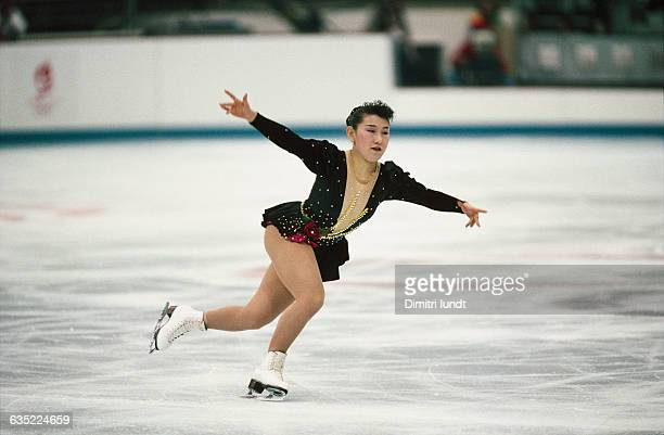 Midori Ito from Japan at the 1992 Winter Olympics