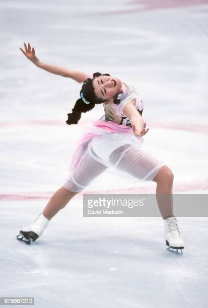 Midori Ito of Japan skates in the Figure Skating Exhibition at the 1992 Winter Olympic Games held in Albertville France on February 22 1992