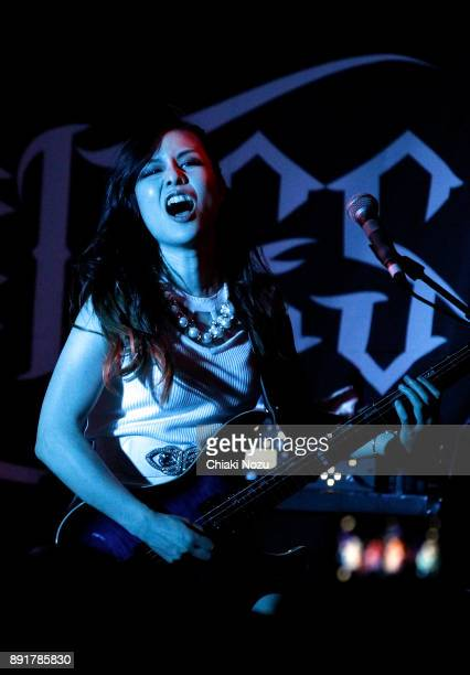 Midori of Lovebites performs live on stage at Underworld on November 27 2017 in London England