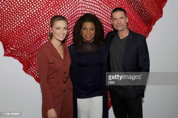EVENTS LA Midseason Press Day Pictured Michaela McManus Lorraine Toussaint Warren Christie The Village